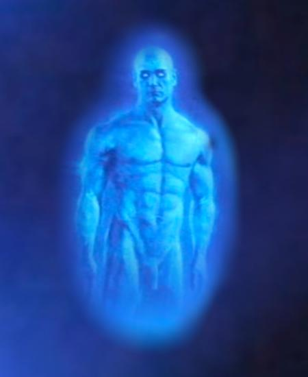 Blue guy from Watchmen Dr Manhattan