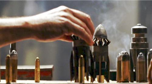 Chess set made from bullets from chronicles of riddick