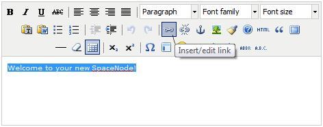 SpaceNode HTML Editor - Select Link
