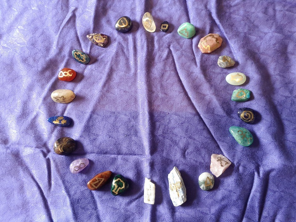 Genius Symbol set made from different crystals