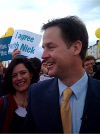 Alex Kent meets Nick Clegg in Eastbourne