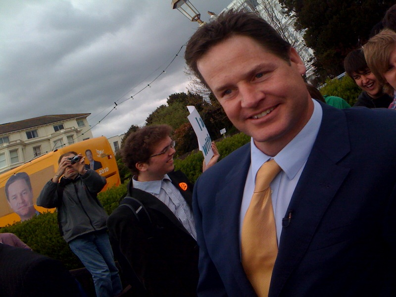 Nick Clegg in Eastbourne
