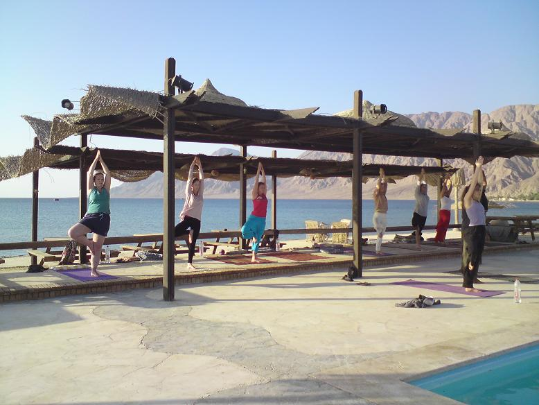 Yoga classes at sunrise in Nuweiba