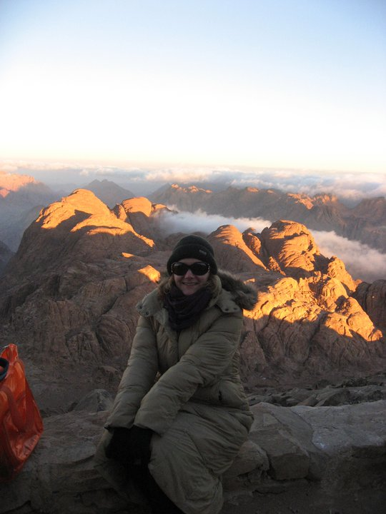 Sunrise at the top of Moses Mountain Sinai Egypt