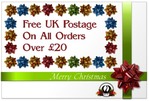 Free UK Postage On All Orders Over £20