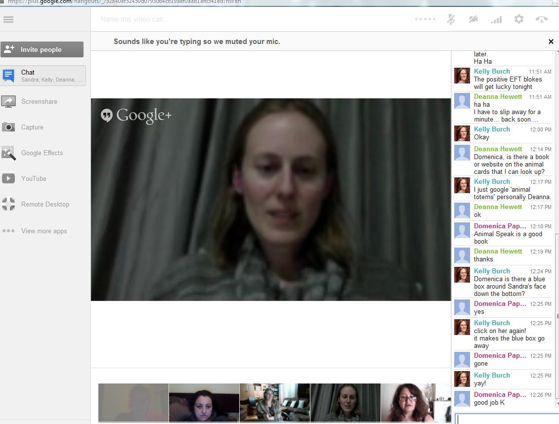 Video conference training using Google+ Hangouts
