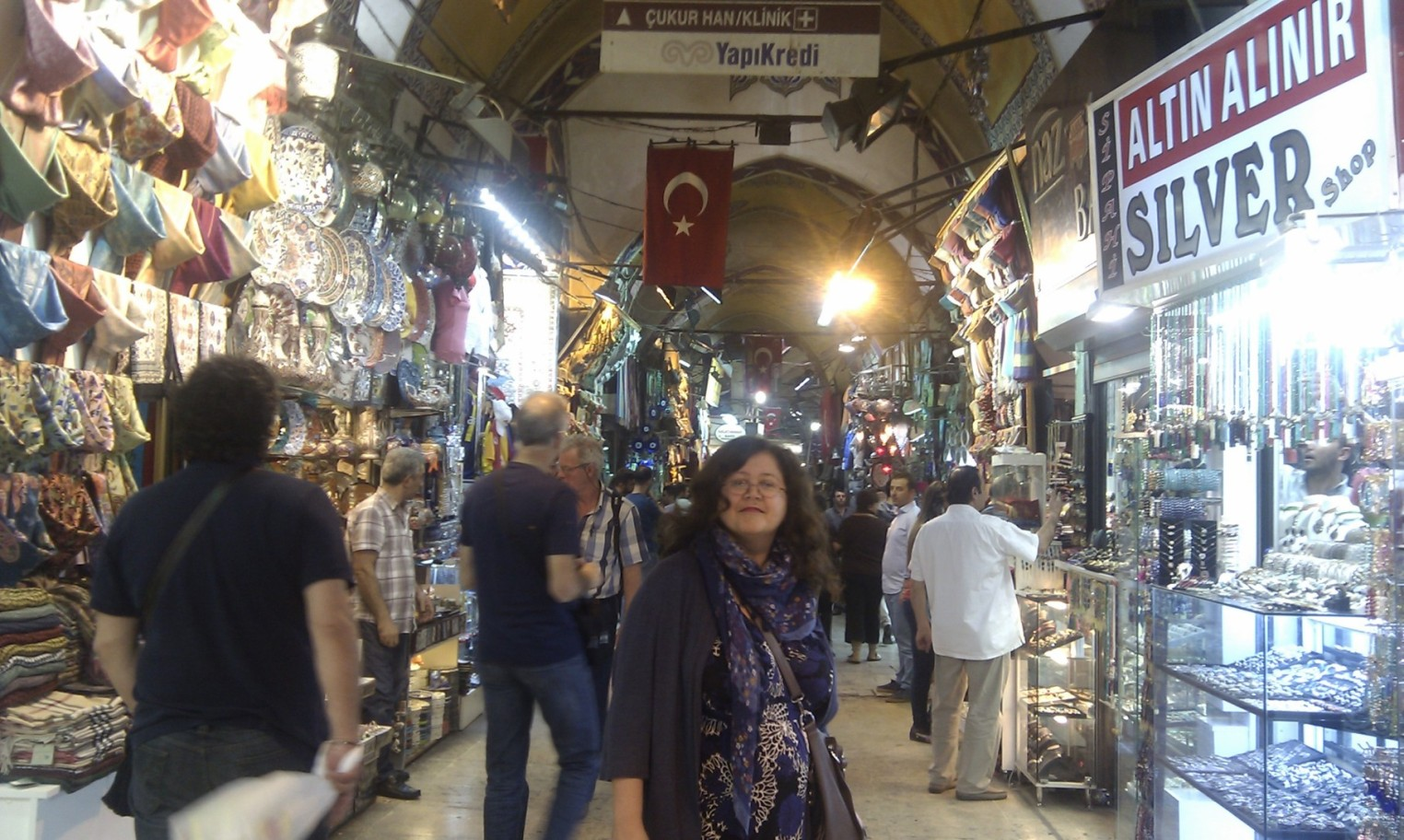 Sandra at the Grand Bazaar Istanbul