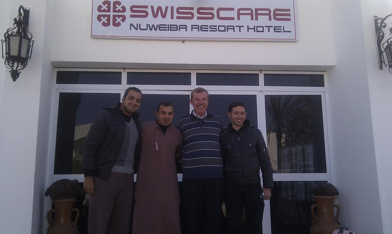 Alvin and the Swisscare team