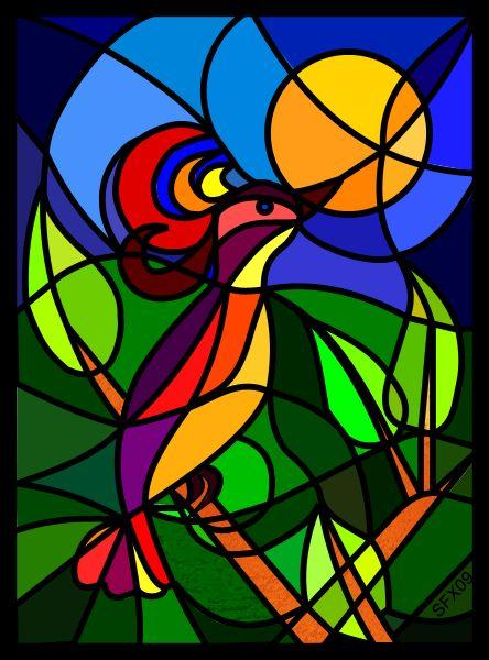 Zaubervogel - The Magic Bird symbol painting by Starfields