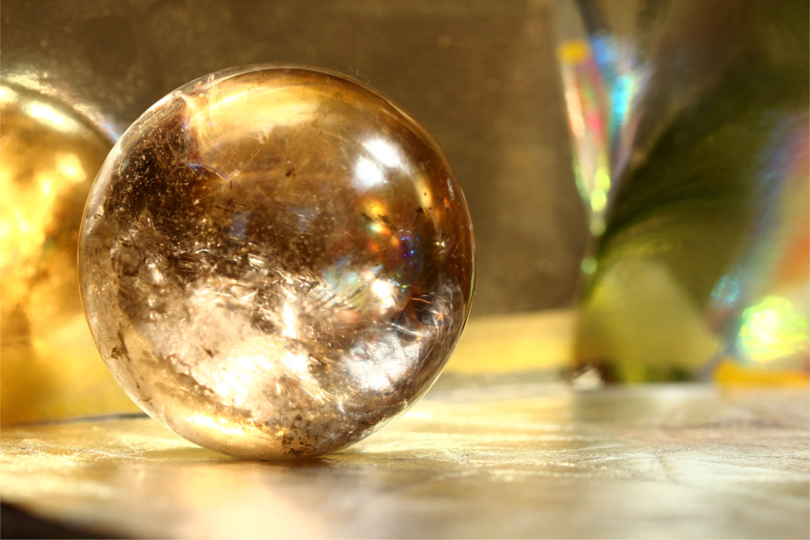 gold sphere abstract photograph from dreams in gold by silvia hartmann