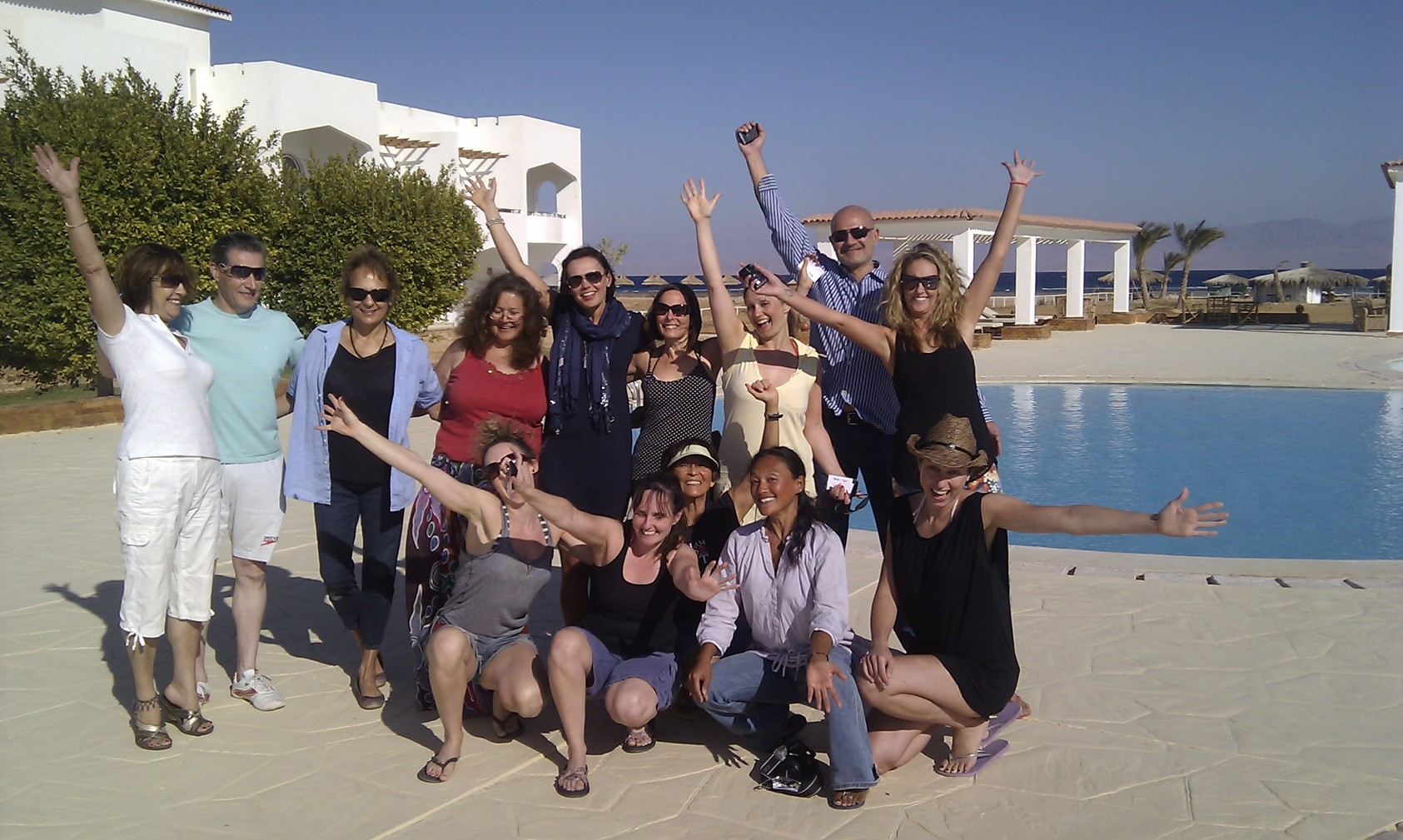 Friends at our healing weight loss retreat nuweiba