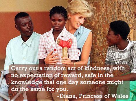 Princess Diana and Random Acts of Kindness