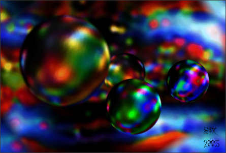 Multicoloured Bubbles - Riversmooth Digital Art by Silvia Hartmann