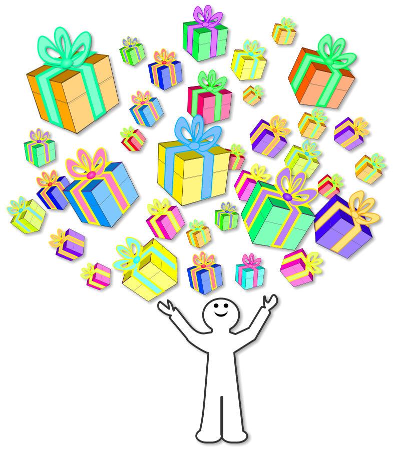 Die Ueberraschenden Aufsaetze Viele schoene Geschenke und Ueberraschungen!
